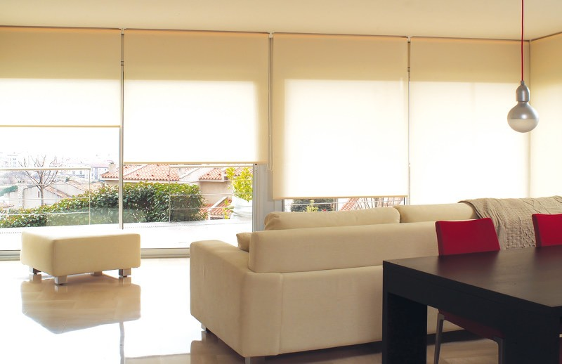 Estores enrollables - Estores con cortinas ...