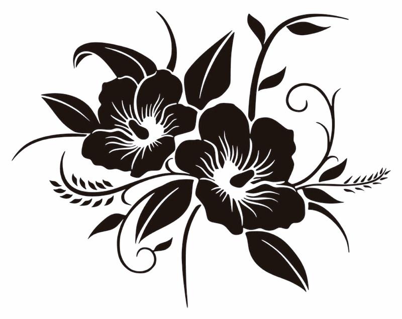 Estores Blanco Y Negro Florales
